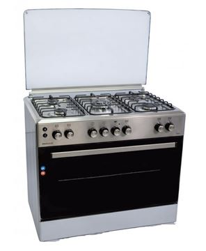 Imagen de Cocina PHILCO combinada  5 hornallas inox CPH6514