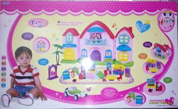 Imagen de Gran casa con 3 muñecos - Happy homestead set