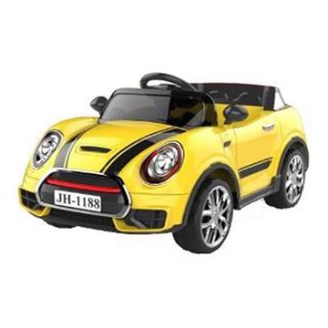 Imagen de Auto a batería J11H88 Mini Cooper amarillo