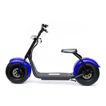 Scooter eléctrica azul