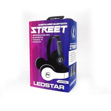 Imagen de Auriculares Bluetooth c/ micro SD Ledstar LA-STREET