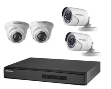 Imagen de Kit Seguridad Hikvision 2 cámaras + 2 domos  KIT720P