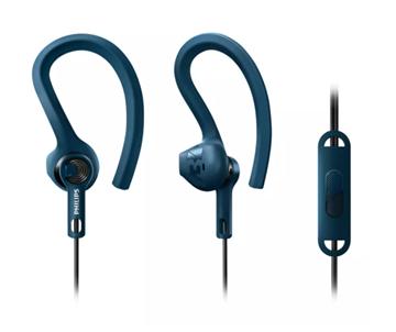 Imagen de Auriculares deportivos Philips con micrófono SHQ1405BL/00
