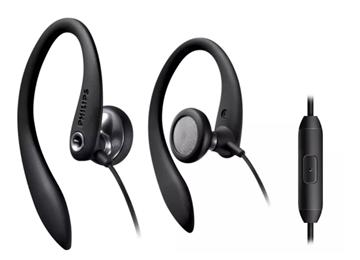 Imagen de Auriculares Philips con soporte para las orejas y micrófono SHS3305BK/10