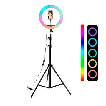 Imagen de Aro de luz  RGB 26cm con trípode