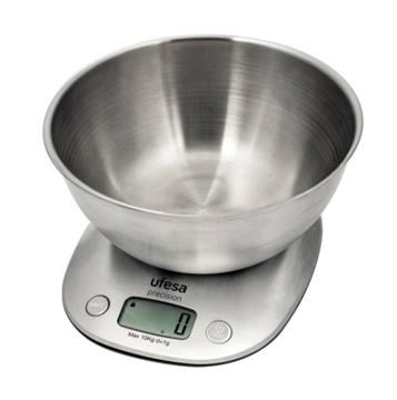 Imagen de Balanza de cocina Ufesa c/bol de acero BC1700