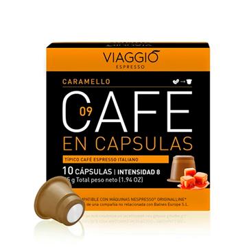 Imagen de Cápsulas de Café Viaggio Caramelo compatible Nespresso pack 10 unidades 0061