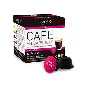 Imagen de Cápsulas de café Viaggio lungo compatible con Dolce Gusto pack 10